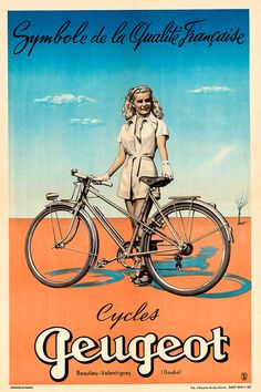 Peugeot Vintage Bicycle Poster Print – Cycling Poster Bicycle Art Vintage Bicycle Poster Cycling Art Tour De France Cycling Art – Famous Last Words Velo Vintage, Vintage Cycles, Art Vintage, Vintage Bikes, Vintage Posters, Illustration Photo, Illustrations, Bicycle Women, Bicycle Girl