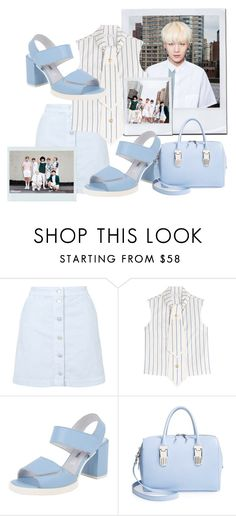 """""""BTS inspired by Suga outfit"""" by schnpri ❤ liked on Polyvore featuring Mode, Topshop, J.W. Anderson, Miista, Opening Ceremony, kpop, bts und Suga"""