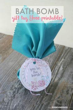 bath bomb gift tags {free printable} sevenclowncircus.com