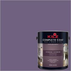 Kilz Complete Coat Interior/Exterior Paint & Primer in One #RA130-02 Regal Purple