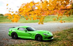 Download wallpapers 4k, Dodge Viper GTC, supercars, 2018 cars, green Viper, Dodge