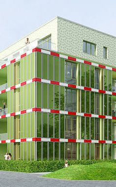 BIK Building, powered by algae-filled walls, Hamburg Germany Green Architecture, Sustainable Architecture, Green Office, Blue Pigment, New Cooking, Hamburg Germany, Back To The Future, Civil Engineering, Solar Energy