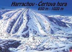 pisteplan Harrachov februari1996