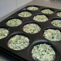 """Muffins de espinaca y parmesanovbbbm""""ctanciatf"""
