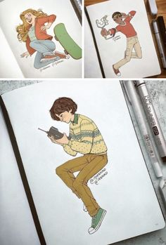 these drawings are so good! If anyone knows where to credit the person, lemme know! <<