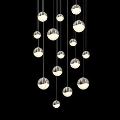 Grapes Satin Nickel 16-Light LED Pendant