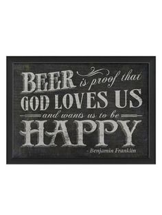 Beer Is Proof (Black)... by Artwork Enclosed on Gilt Home
