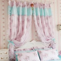 Share this page with others and get 10% off! Shabby Chic Pink Rose Curtain