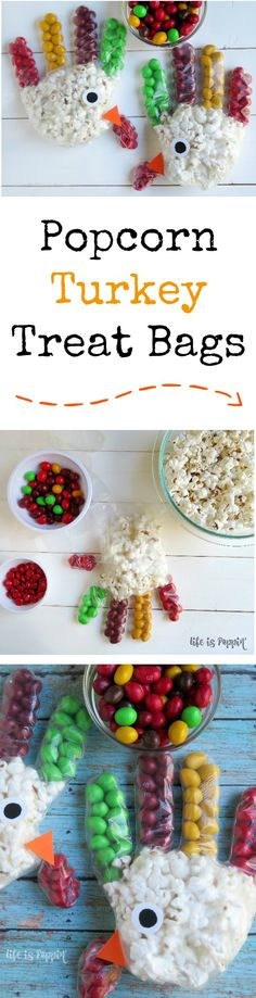 Give the gift of Thanksgiving treats. Your kids will love making these fun popcorn turkey treat bags, and their friends will love receiving them! There's nothing like having my kids in the kitchen with me while I cook and bake. This is the perfect time to talk about all of the things we are thankful for!