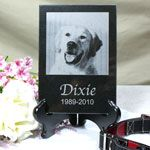 Etched Memorial Marble Tile for your pet. #pet #memorial