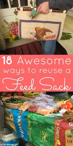 You don't have to toss those empty pet food bags! Check out these amazing feed sack crafts, and turn that empty sack into something super awesome.