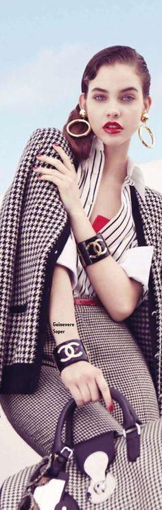 Barbara Palvin by Benjamin Alexander Huseby for Harper's Bazaar US May 2010 (Chanel Ad Campaign)