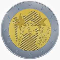 Slovene commemorative 2 euro coins - 600th Anniversary since the Coronation of Barbara of Celje  Commemorative 2 euro coins from Slovenia