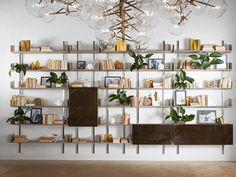 Libreria a parete modulare in legno BRERA by Gallotti&Radice design Massimo Castagna