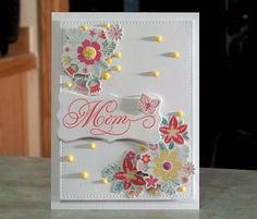 Handmade Card Perfect for Mom Birthday or Mother's Day using items from the Love from Lizi April 2017 kit.
