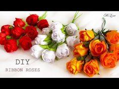 РОЗЫ ИЗ ЛЕНТ, МК / DIY RIBBON ROSES - YouTube
