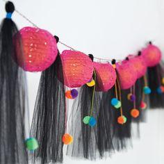 Martha Stewart Crafts® Lighted Garland with Tulle Tassels