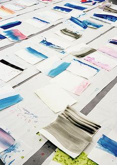 & Other Stories | Colour-dipping our way into the new season - SS/15 paper bags in the making.