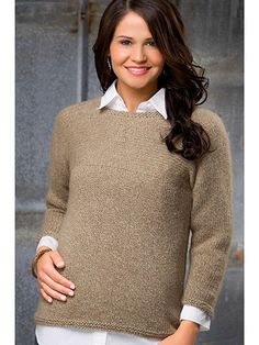 Clothes Knitting Downloads - Vina Side-to-Side Top Knit Pattern