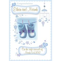 Create a new Personalised Greeting Card for new Baby