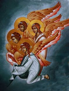 Whispers of an Immortalist: Holy Angels 9 Byzantine Art, Byzantine Icons, Religious Icons, Religious Art, Angel Drawing, Archangel Michael, Catholic Art, Jesus Is Lord, Orthodox Icons