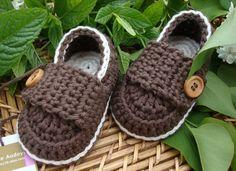 Mocasines de crochet para bebé