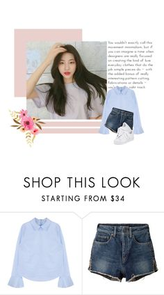 """""""a u d i t i o n /// Min Sooyoung"""" by deunrr ❤ liked on Polyvore featuring Yves Saint Laurent, adidas and minsooyoung"""
