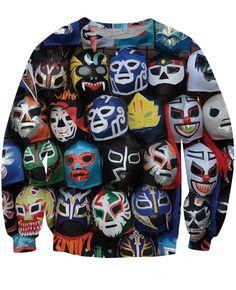 Lucha Libre Máscaras Sweatshirt