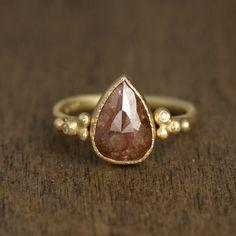 2.6ctw brown diamond ring