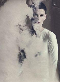 """Saskia de Brauw""""The White Queen""""for Wallpaper September 2013, ph. Paolo Roversi"""