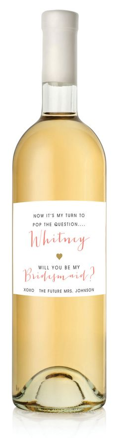 Hey, I found this really awesome Etsy listing at https://www.etsy.com/listing/215314940/6-custom-be-my-bridesmaid-wine-labels