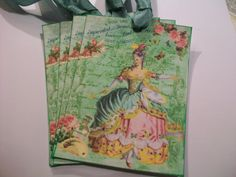XL Marie Antoinette in Pastel Gift Tags/Notecards by smtiffanylane, $5.25