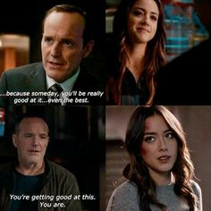 Supportive dad always motivating his daughter! Marvel Show, Marvel Series, Marvel Dc Comics, Marvel Avengers, Lunar Chronicles Books, Agents Of S.h.i.e.l.d, Shield Cast, Hero Time, Marvels Agents Of Shield