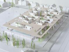Architecture model 2층 보행/도면을 못봐서 향을 어떻게 처리한지 모르겠음. 하나의 대안 참고용.
