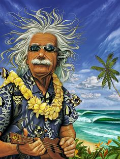 """Al"" Einstein on Vacation by Rick Rietveld"