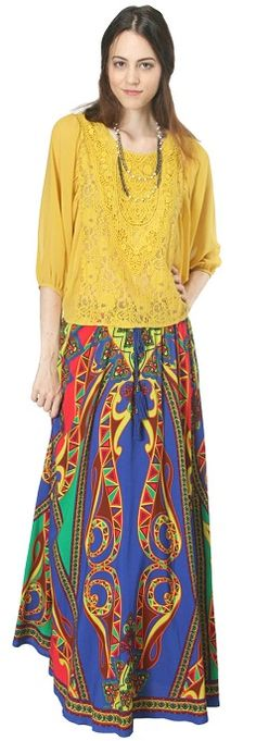 Bohemian Maxi Skirt from Flying Tomato!