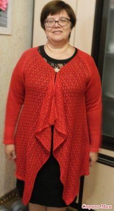 Здравствуйте рукодельницы! Меня зовут Ольга. Приступаем к вязанию кардигана. http://www.stranamam.ru/  Начнем с выкройки. Вот что у меня есть в закромах А вот моя выкройка на 56 размер