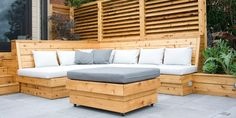 garden benches made from  fence material | modern decking montreal