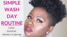Simple Natural Hair Wash Day Routine Using Pantene @pantene #strongisbeautiful #ad