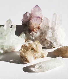 Crystals Minerals, Rocks And Minerals, Crystals And Gemstones, Stones And Crystals, Crystal Magic, Crystal Grid, Crystal Healing, Quartz Crystal, Rose Quartz