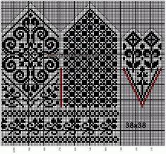30 Patrones de Mitones Jackard Knitted Mittens Pattern, Fair Isle Knitting Patterns, Crochet Mittens, Knitting Charts, Filet Crochet, Knitting Stitches, Knitting Socks, Knitting Needles, Free Knitting