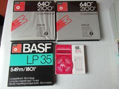 Catawiki online auction house: 30 tape recorder tapes, including BASF, Scotch and Philips plus 5 empty reels