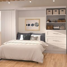 Murphy bed murphy bed ikea, murphy bed plans, decorate your room, Murphy Bed Desk, Murphy Bed Plans, Drawer Storage Unit, Bed Storage, Full Bed With Storage, Murphy-bett Ikea, Modern Murphy Beds, Full Mattress, Ideas Hogar