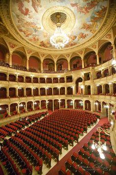 de mooiste theaterzaal van Europa -   Het Operahuis van Boedapest