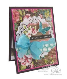 MY SHERI CARDS: The Stamps Simply Ribbon Store - Kaisercraft Kaleidoscope with Collectables - designed by Sheri Holt