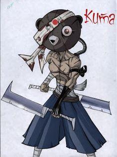 Kuma. Afro samurai ilustracs.blogspot.com