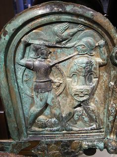 Bronze chariot inlaid with ivory 2nd-6th csent.BC Etruscan  Scenes from the life of the Greek hero Achilles