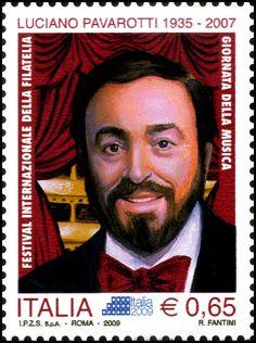 Italy Stamp - Luciano Pavarotti