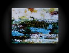 Large Abstract Painting Modern and Contemporary by therawcanvas