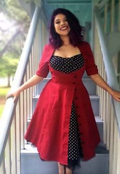 pin up/rockabilly is a favourite fashion style of mine! Chic Star - Alternative women's clothing wholesale including plus size apparel and dresses. Curvy Fashion, Look Fashion, Retro Fashion, Plus Size Fashion, Girl Fashion, Vintage Fashion, Fashion Tips, Fashion 2017, Womens Fashion